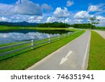 a bicycle lane for exercise... | Shutterstock . vector #746351941