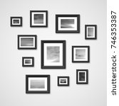 picture frames with nature... | Shutterstock .eps vector #746353387