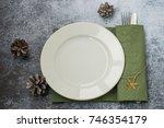 preparing for a festive... | Shutterstock . vector #746354179