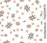 hashtag icon seamless pattern.... | Shutterstock .eps vector #746355979
