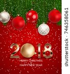 abstract beauty christmas and... | Shutterstock .eps vector #746358061