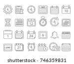 mono line pictures set of time... | Shutterstock .eps vector #746359831