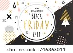 black friday sale poster.... | Shutterstock .eps vector #746363011