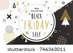 black friday sale poster.... | Shutterstock .eps vector #746363011