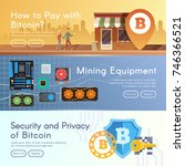 bitcoin digital money ... | Shutterstock .eps vector #746366521