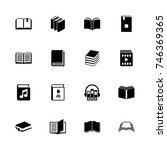 books icons   expand to any... | Shutterstock .eps vector #746369365