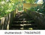 ascending steps in the shade... | Shutterstock . vector #746369635