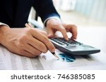 asian business man working with ... | Shutterstock . vector #746385085