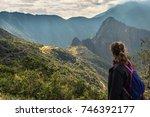 machu picchu  peru   august 03  ... | Shutterstock . vector #746392177