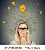 brain connections. happy... | Shutterstock . vector #746394601