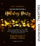 holiday party invitation with... | Shutterstock .eps vector #746397301