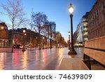 Paris Champs Elysee Street In...
