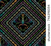 embroidery striped baroque... | Shutterstock .eps vector #746398354