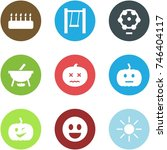 origami corner style icon set   ... | Shutterstock .eps vector #746404117
