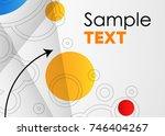 vector abstract geometric... | Shutterstock .eps vector #746404267