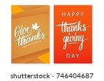 happy thanksgiving day... | Shutterstock .eps vector #746404687