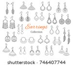 fashionable earrings collection ... | Shutterstock .eps vector #746407744