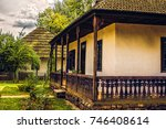 old romanian traditional house... | Shutterstock . vector #746408614