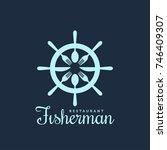 fisherman seafood restaurant... | Shutterstock .eps vector #746409307