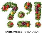 Small photo of Fruit and vegetable alphabet - Punctuation