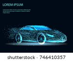 abstract image of a auto in the ... | Shutterstock .eps vector #746410357