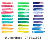 abstract acrylic brush strokes... | Shutterstock .eps vector #746411935