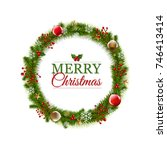 merry christmas whreat with... | Shutterstock .eps vector #746413414