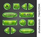 cartoon green buttons with...