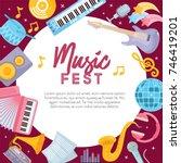 music fest. creative... | Shutterstock .eps vector #746419201