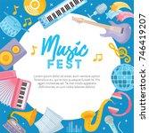 music fest. creative... | Shutterstock .eps vector #746419207