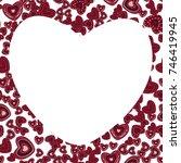 love frame card hearts... | Shutterstock .eps vector #746419945