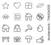 thin line icon set   star ...