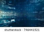 abstract tech background.... | Shutterstock . vector #746441521