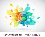 abstract colored background... | Shutterstock .eps vector #746442871