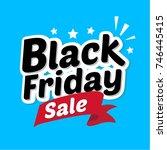 black friday sale banner in... | Shutterstock .eps vector #746445415