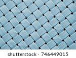 fabric texture. coarse canvas... | Shutterstock . vector #746449015