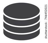 data storage glyph icon  web...   Shutterstock .eps vector #746452021
