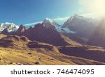 beautiful mountains landscapes... | Shutterstock . vector #746474095