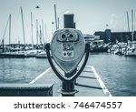isolated image of coin operated ... | Shutterstock . vector #746474557