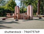modern abstract children's... | Shutterstock . vector #746475769