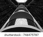 abstract building interior of... | Shutterstock . vector #746475787