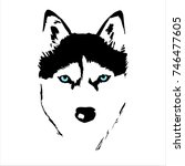 husky vector illustration  | Shutterstock .eps vector #746477605