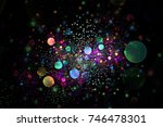abstract colorful glowing... | Shutterstock . vector #746478301