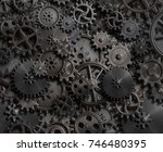 gears and cogs technology... | Shutterstock . vector #746480395