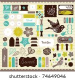 girly design elements for... | Shutterstock .eps vector #74649046