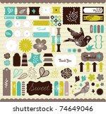 girly design elements for... | Shutterstock .eps vector #74649046