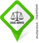 legal advice green square... | Shutterstock .eps vector #746499049