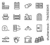 thin line icon set   mansion ... | Shutterstock .eps vector #746503045