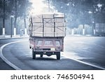 small freight car with... | Shutterstock . vector #746504941