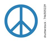 peace symbol icon on white... | Shutterstock .eps vector #746505229
